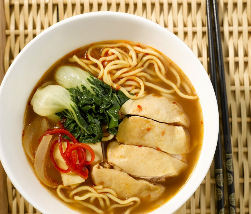 Red Yeast Hokkien Noodles Soup2