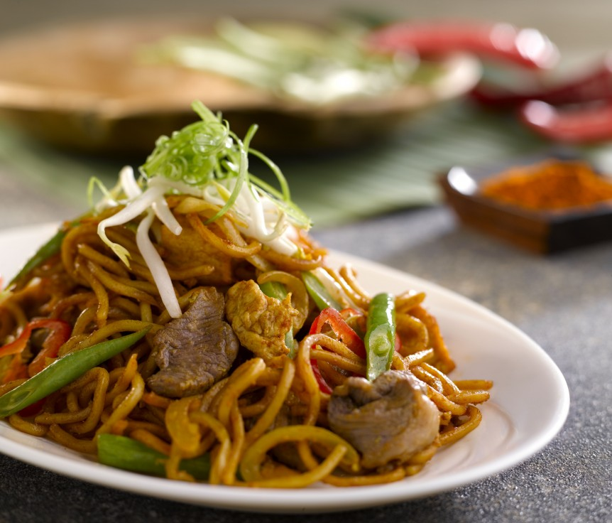 Stir Fry Hokkien Curry Mee
